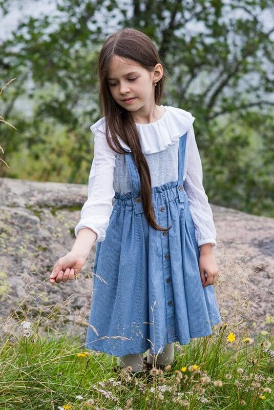 Детская юбка с бретелями