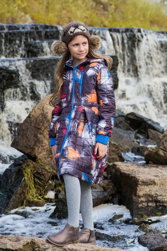 Детское стеганое пальто с капюшоном с принтом для девочки 2020 1