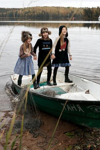 """Платье-туника детское """"Аляска"""" с капюшоном"""