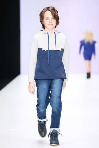 Парка на мальчика с трикотажной вставкой 2020 1
