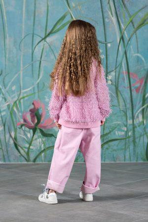 Детские розовые джинсы