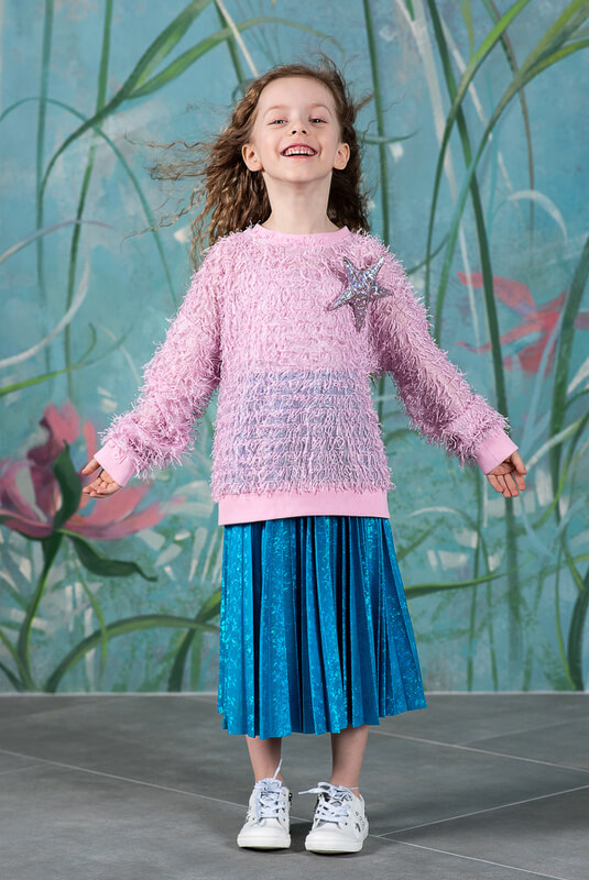 Розовый свитшот для девочки