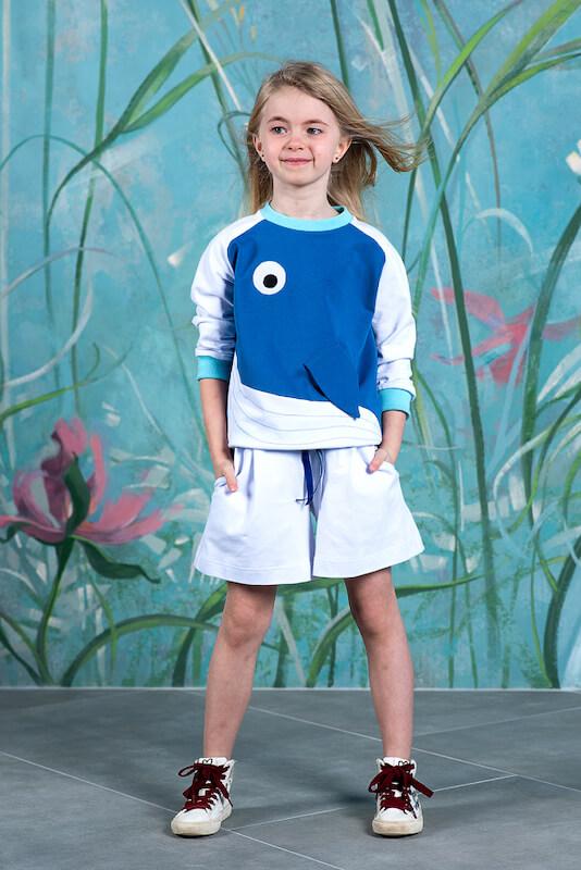 Летние белые детские шорты из трикотажа
