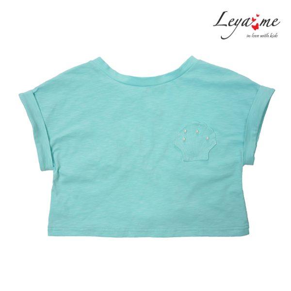 Бирюзовая детская футболка для девочки