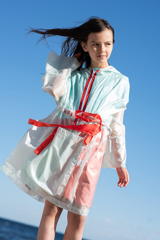 Прозрачный детский дождевик для девочки