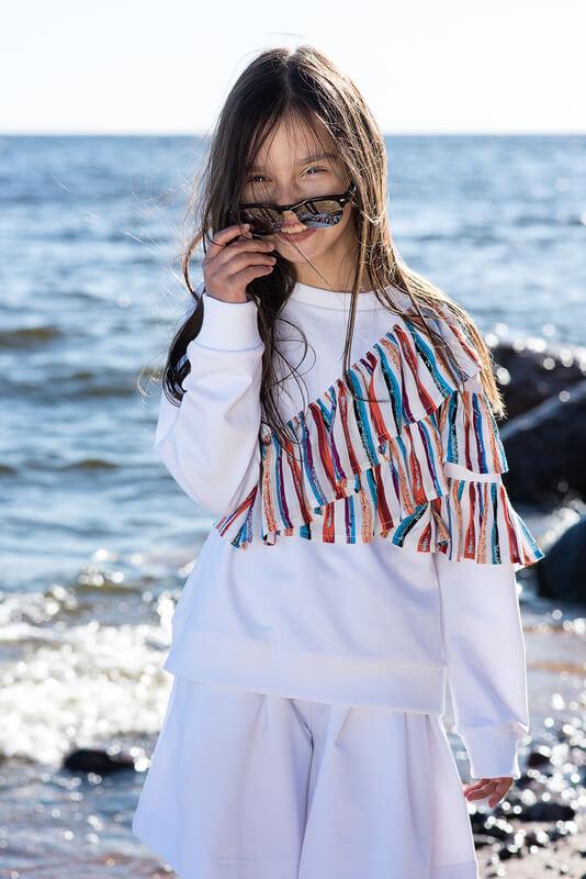 Белый детский свитшот для девочки