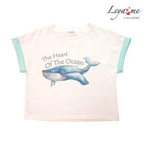 Детская футболка с принтом Кит the heart of the ocean