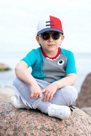 Детская футболка для мальчика, со светоотражающей аппликацией