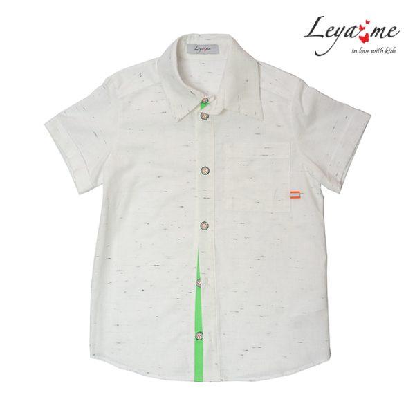 Льняная детская рубашка для мальчика