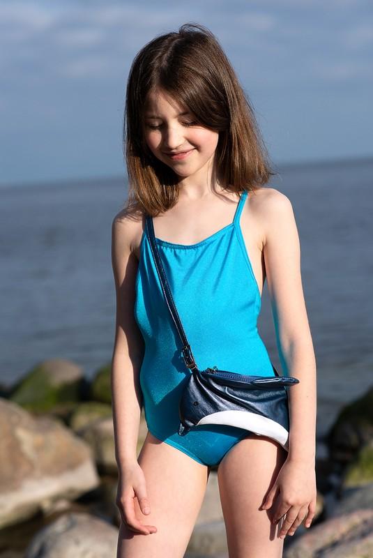 Бирюзовый детский купальник для девочки