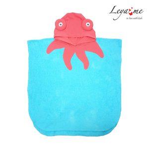 """Детское пляжное полотенце с капюшоном """"Осьминог"""""""