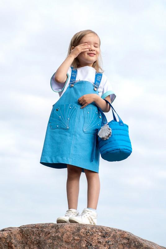 Детский джинсовый сарафан для девочки