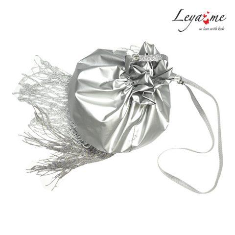 Серебристая детская сумочка для девочки Медуза