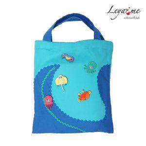 Детская сумка-шоппер с принтом с морскими обитателями