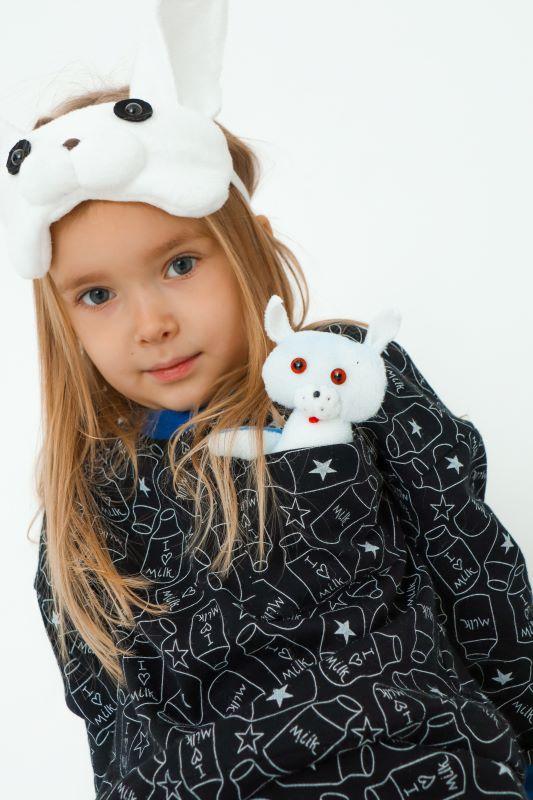 """Детская пижама с игрушкой и маской для сна """"Кролик"""""""
