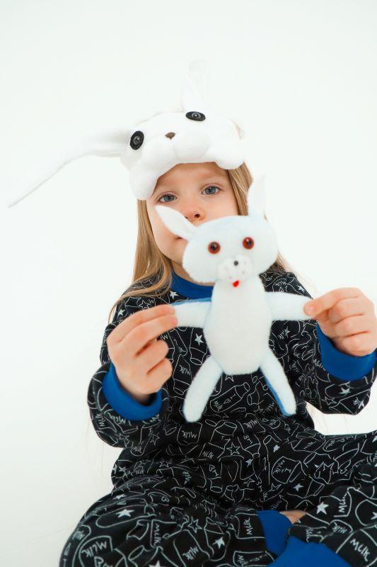 """Детская пижама с игрушкой и маской для сна """"Кролик"""" 2021 1"""