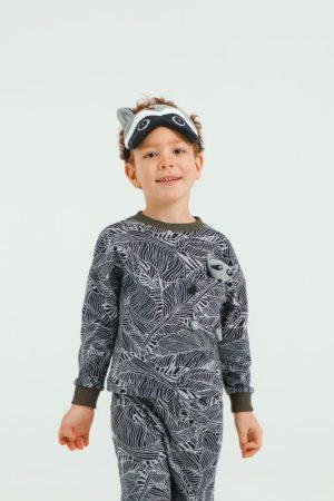 """Детская пижама с игрушкой и маской для сна """"Енот"""""""