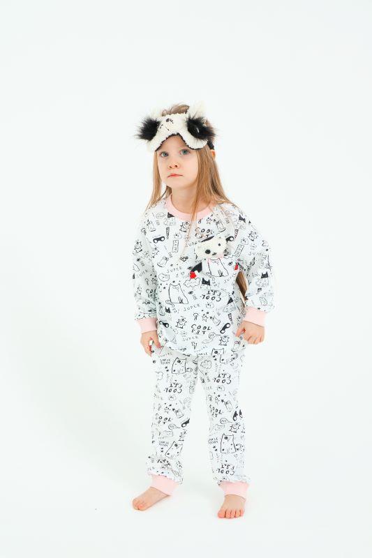 """Детская пижама с игрушкой и маской для сна """"Кот"""""""