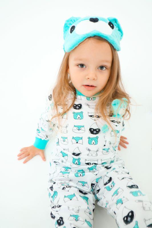 """Детская пижама с игрушкой и маской для сна """"Мишка"""""""