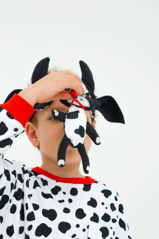 """Детская пижама с игрушкой и маской для сна """"Бычок"""" 2021 1"""