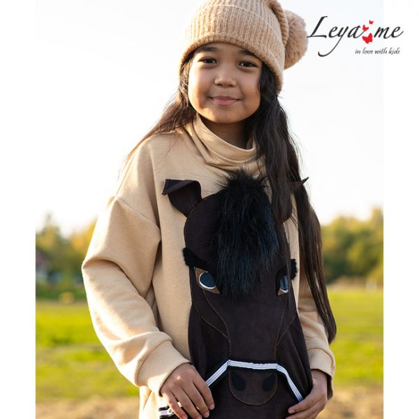 Бежевый детский свитшот для девочки