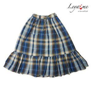 Клетчатая детская юбка для девочки, в стиле кантри, с воланом