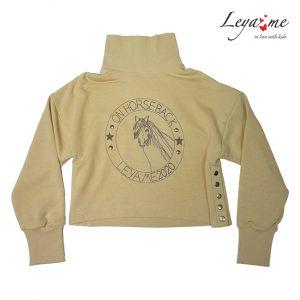 Детский свитшот для девочки, с высоким горлом, боковыми застежками On Horseback