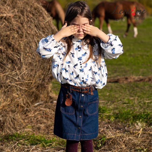 Детская джинсовая юбка для девочки