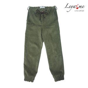 Темно-зеленые вельветовые детские брюки для мальчика