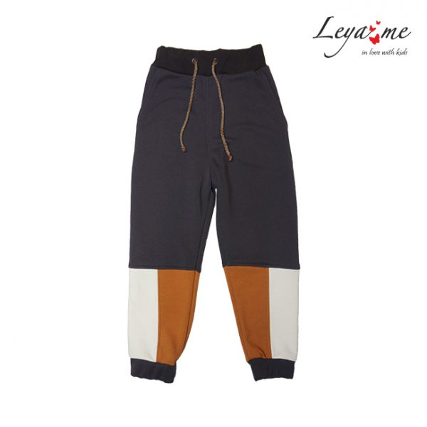 Комбинированные детские брюки с цветными вставками