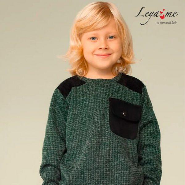 Темно-зеленый детский свитшот для мальчика
