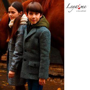 Шерстяное серое детское пальто для мальчика, с подстежкой