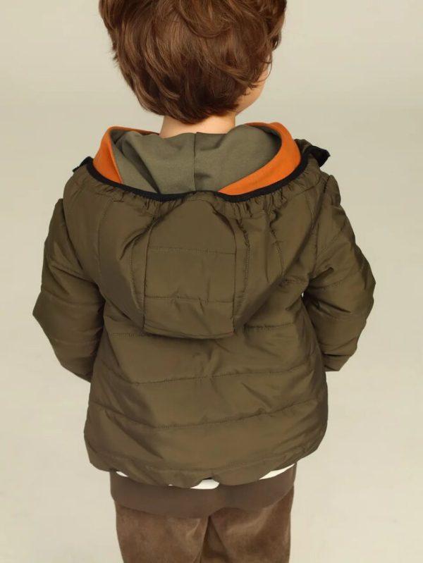 Стеганая зеленая детская куртка унисекс 2020 2