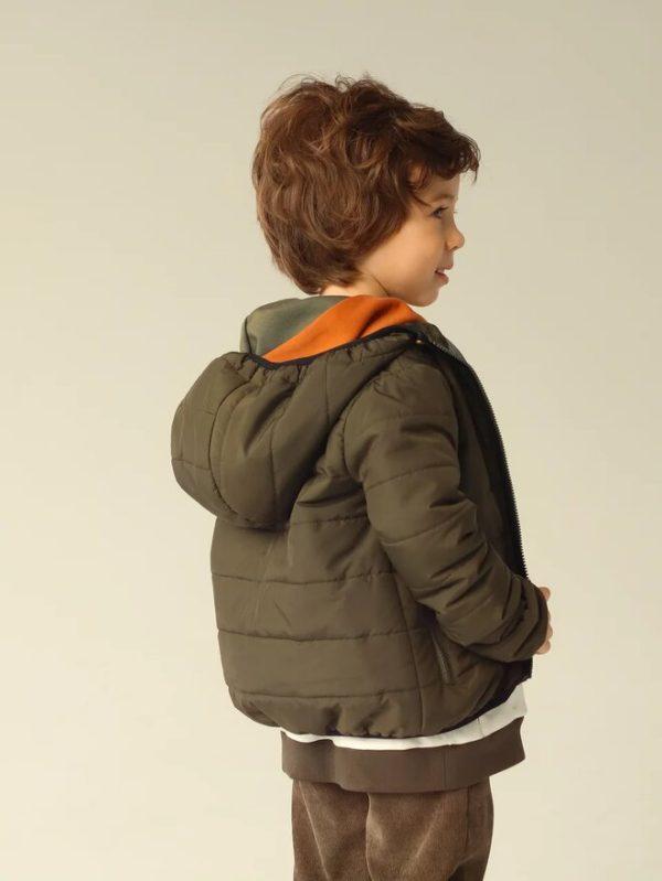Стеганая зеленая детская куртка унисекс 2020 3