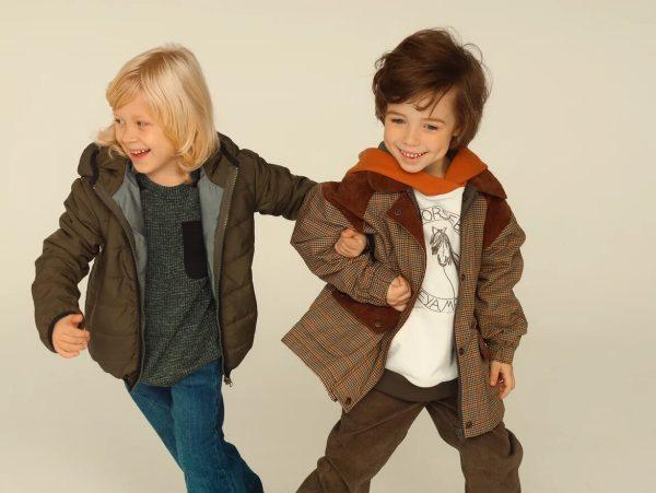 Стеганая зеленая детская куртка унисекс 2020 4