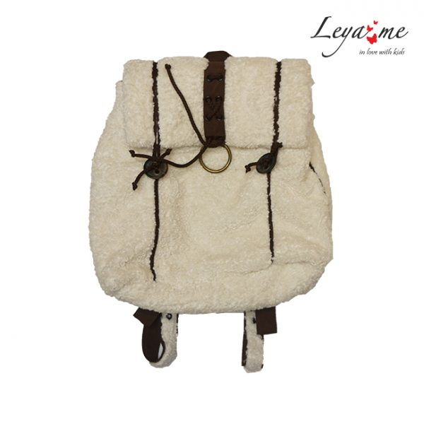 Белый детский рюкзак для девочки