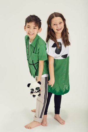 Рубашка детская зеленая с коротким рукавом на мальчика