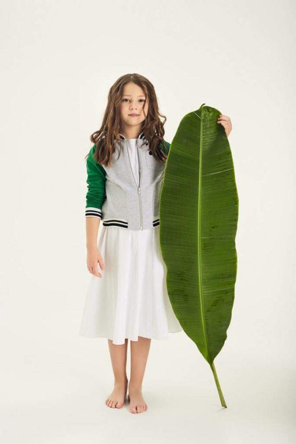 Плиссированная юбка белая на девочку