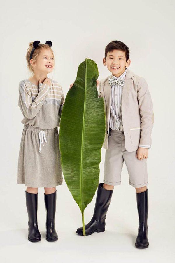 Платье детское из трикотажа с цельнокроеным рукавом и кулиской на девочку