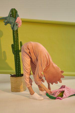 Розовые детские джеггинсы из эко-кожи