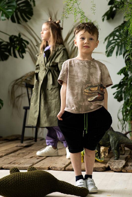 Черные детские шорты для мальчика