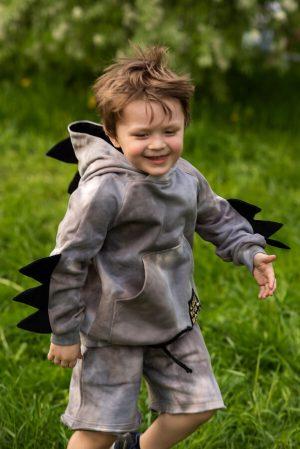 Трикотажные детские шорты на мальчика с принтом тай дай