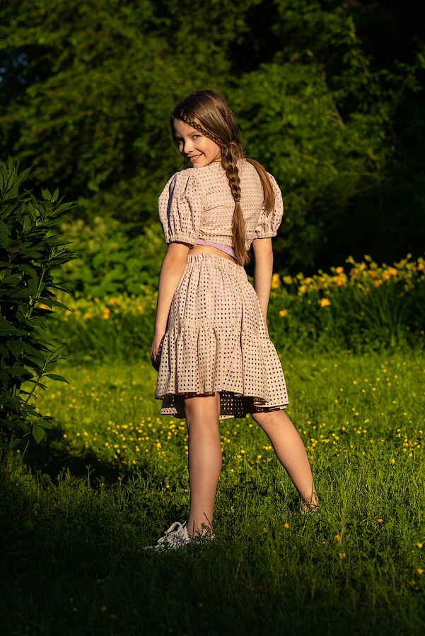 Бежевая детская юбка для девочки