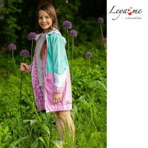 Летняя детская ветровка для девочки, в стиле colour block