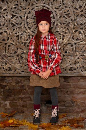 Детская юбка из вельвета
