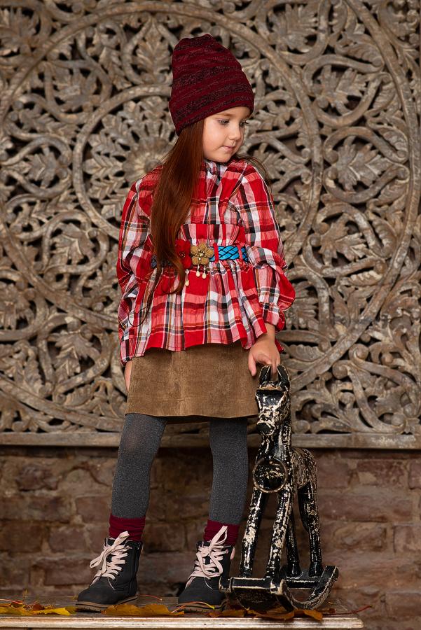 Детская юбка из вельвета 2021 1