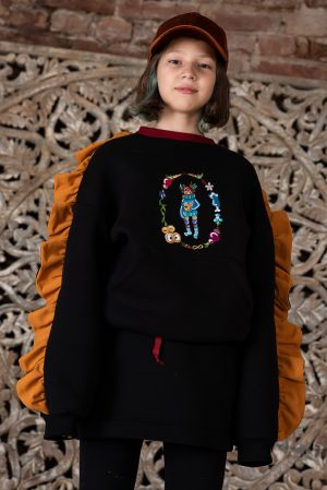 Мини-юбка детская черная