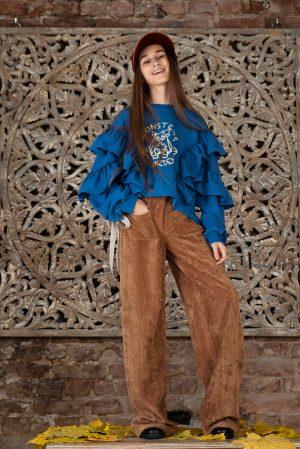Вельветовые брюки для девочки