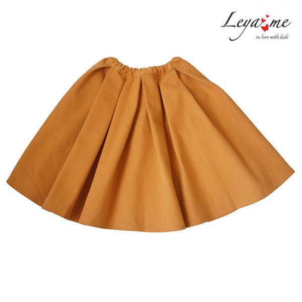 Пышная детская юбка желтая со складками