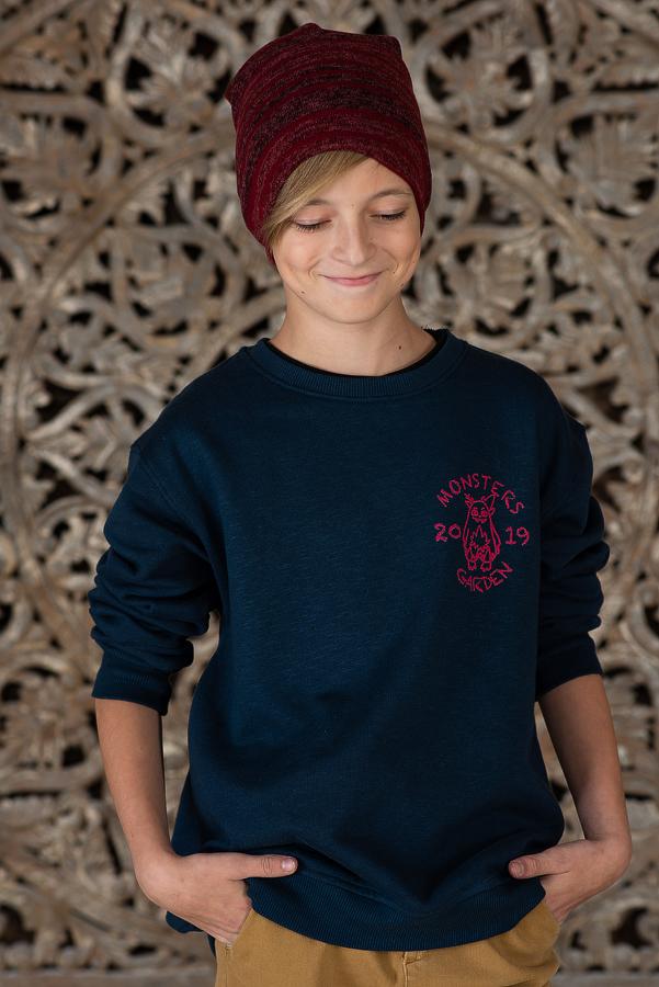Свитшот для мальчика синий с принтом